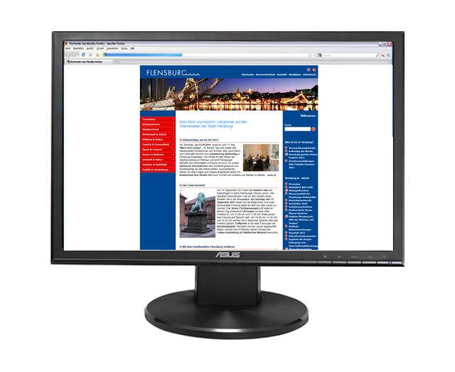 Webseite Stadt Flensburg