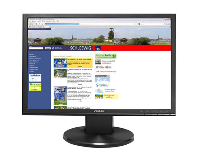 Webseite Stadt Schleswig