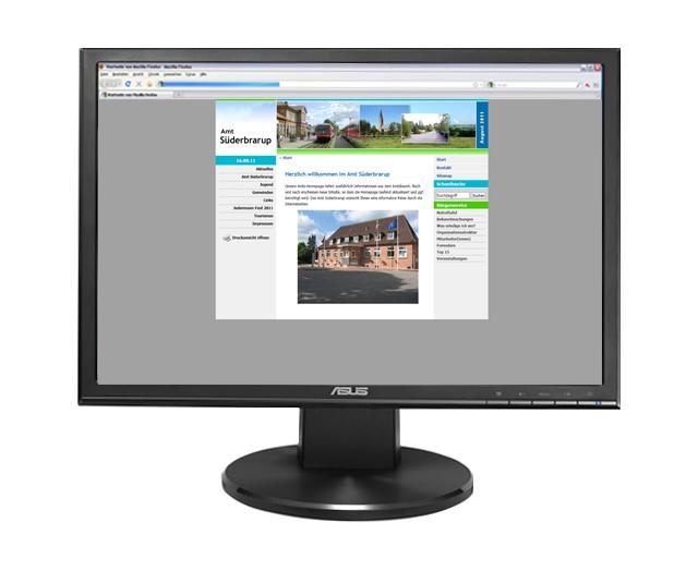 Webseite Amt Süderbrarup